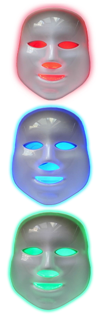 3 led light therapy facial masks